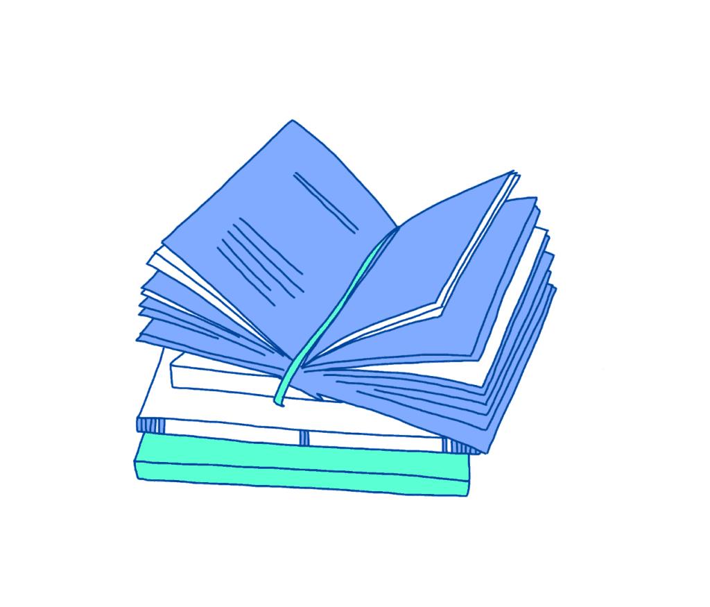 Illustration von Büchern