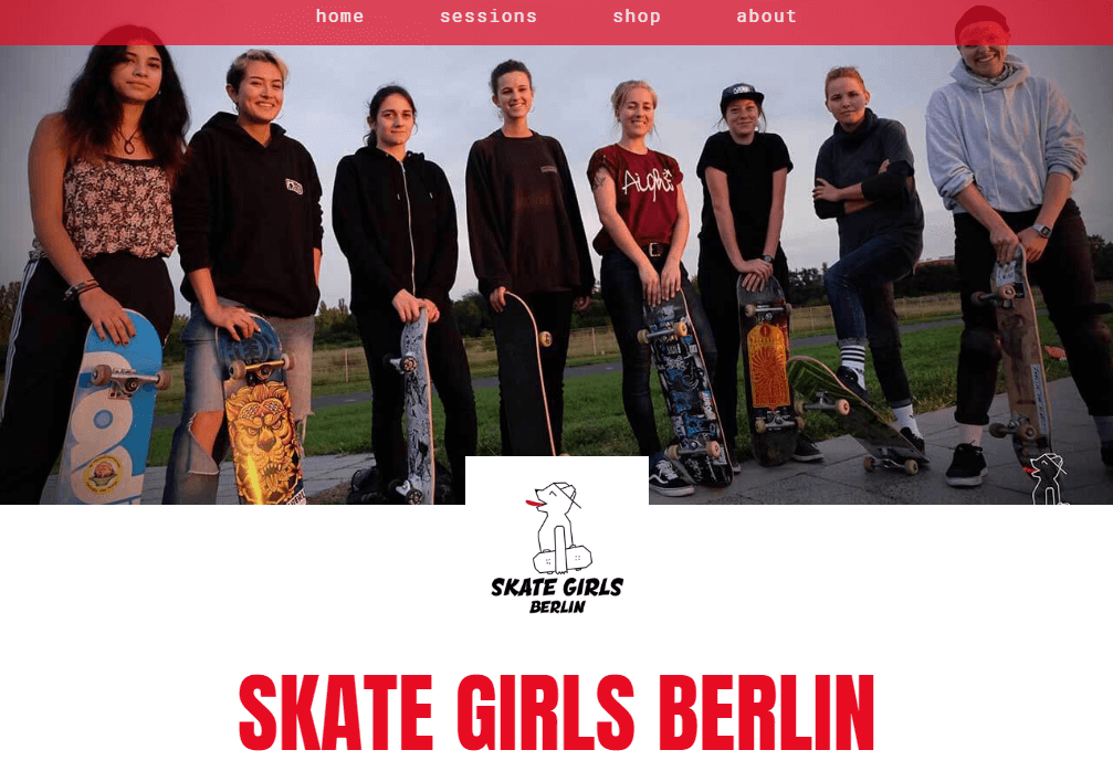 Referenz Website Skate Girls Berlin