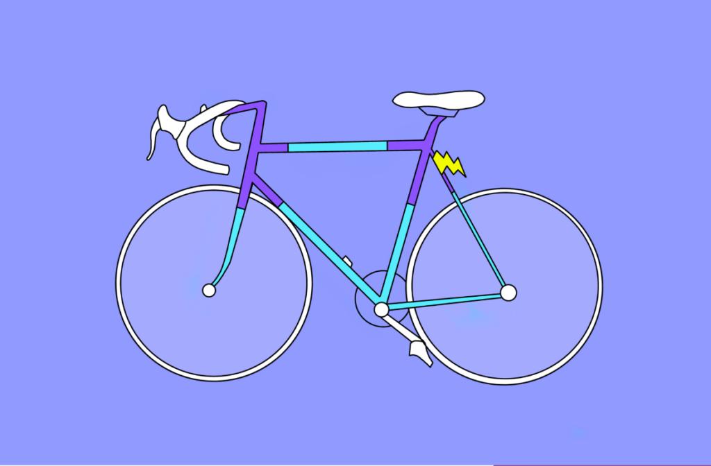 Illustration eines Rennrads